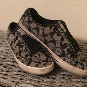 Used coach slip ons